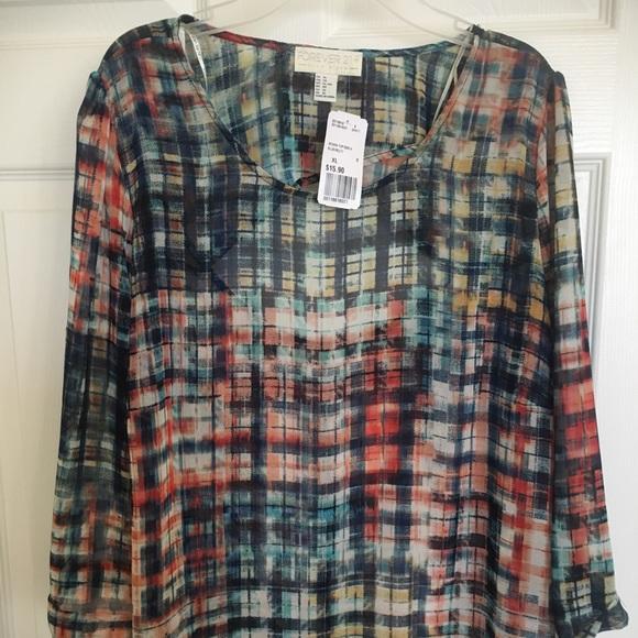 Forever21 women/'s olive woven sheer shirt NWT Size Medium